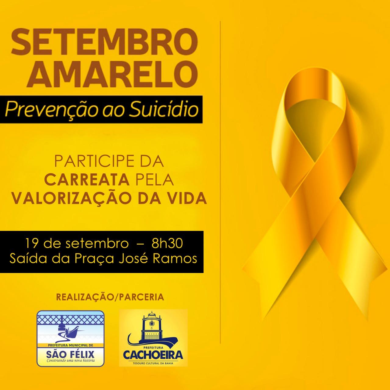 Prefeituras de São Félix e Cachoeira realizam ação conjunta do Setembro Amarelo