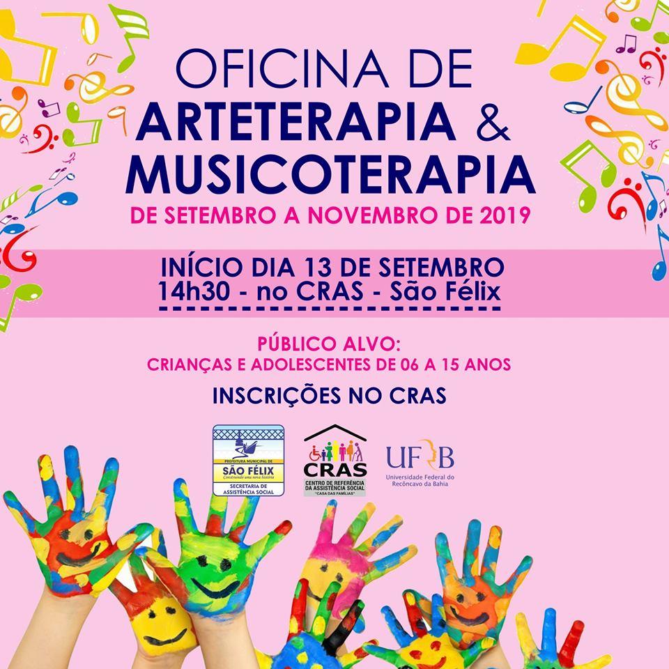 CRAS oferece Oficina de Arteterapia e Musicoterapia para crianças e adolescentes
