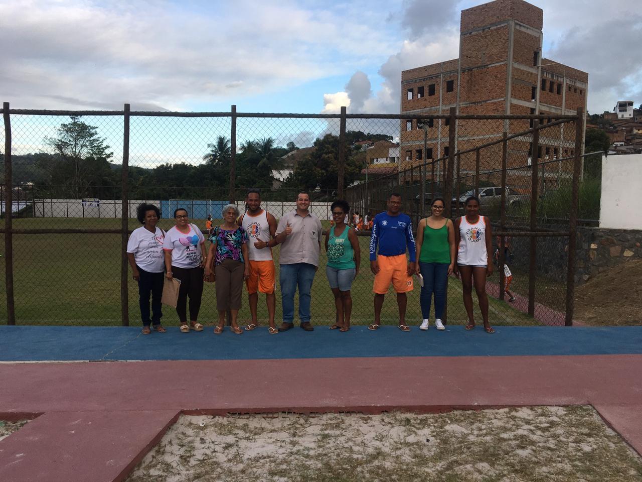 Membros do CMDCA e representantes da Votorantim visitam o Projeto Virando o Jogo